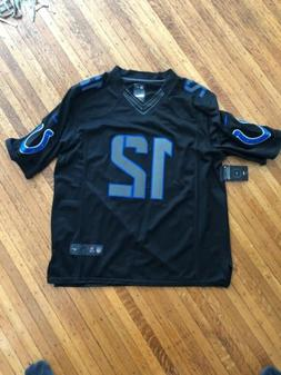 Indianapolis Colts Jersey Andrew Luck Size XL Black Blue Wit